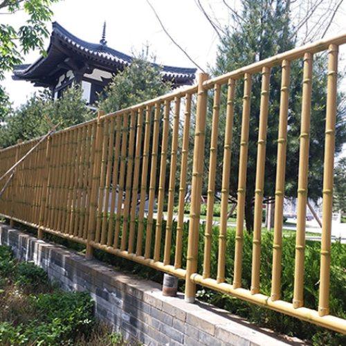 园艺仿竹护栏 园艺仿竹护栏定制 弘更 园艺仿竹护栏厂商