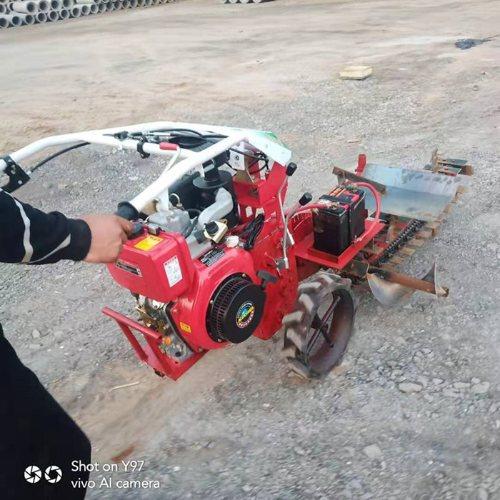 燃气管道链条式开沟机价格 专业生产深沟开沟机厂家 百辉