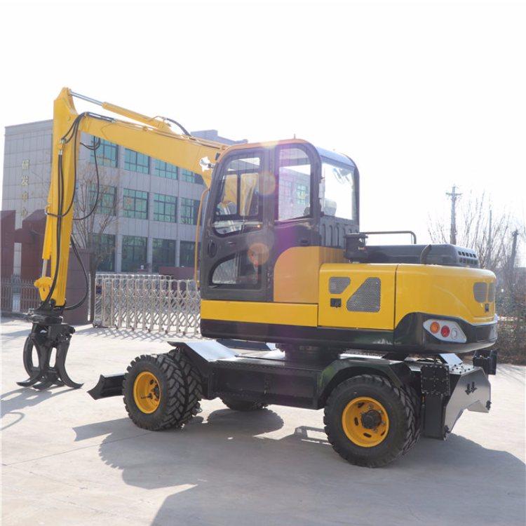 自卸式轮式挖掘机定制 中崛 工程轮式挖掘机图片