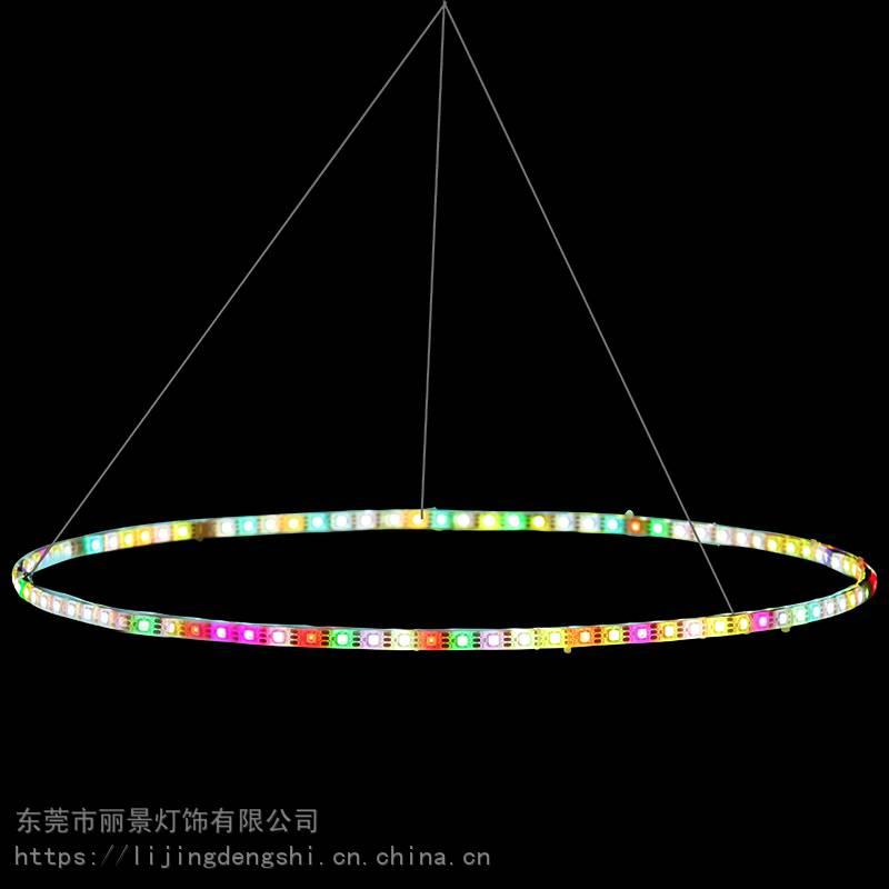 LED树木装饰圆圈灯吊环灯树环灯绕树灯树木装饰景观灯公园景观