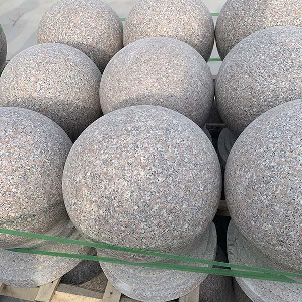 芝麻灰路障石球定制加工 高家石业