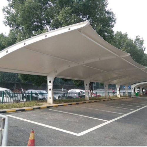膜结构车棚制作 浩远篷业 户外膜结构车棚报价
