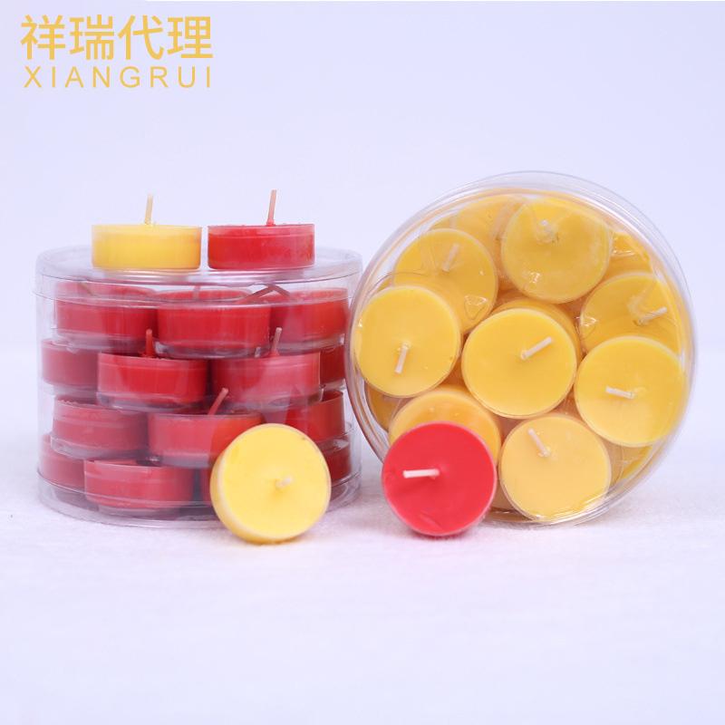 心灵鑫 佛教酥油蜡烛 28粒胶壳4小时无烟酥油灯 环保供佛灯厂家