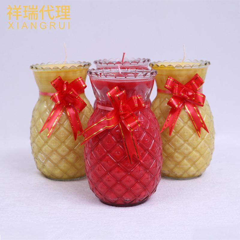 现货植物酥油蜡烛 菠萝无烟酥油灯 7天旺来佛教法会供灯厂家直销