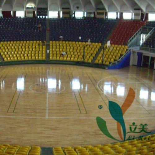 体育馆木地板订制 立美 学校体育馆木地板订做