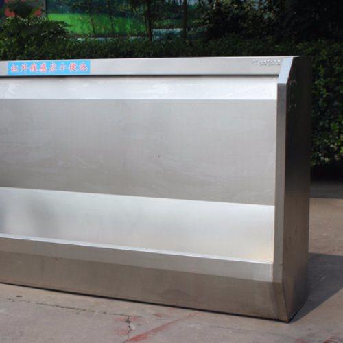 公共厕所不锈钢感应式小便槽 琦凯洁具
