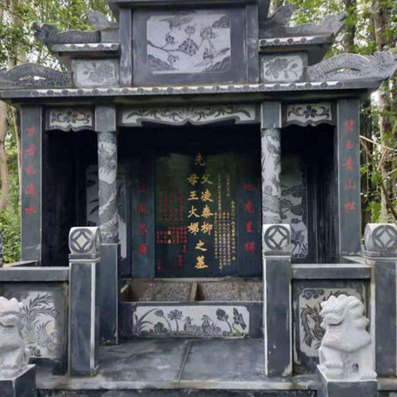 章丘黑石碑风格 磊顺石材 传统陵园墓碑石碑规格