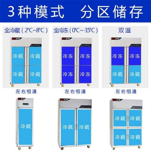 酒店专用四门冰柜 四门冰柜订制 冰力客 四门冰柜供应