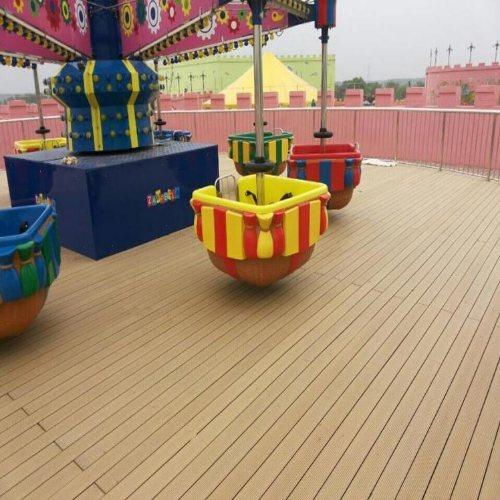 聊城木塑地板厂家 济南新民力 园林木塑地板批发 济宁木塑地板