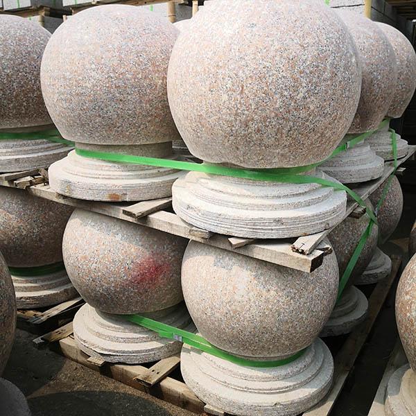 腾越石材 抛光面拦路圆球多少钱 带底座拦路圆球批发