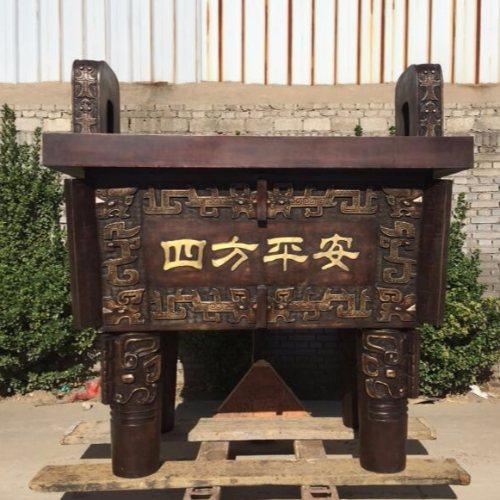 专业的铸铜大克鼎铸造厂 京乐雕塑 哪里有铸铜大克鼎铸造厂