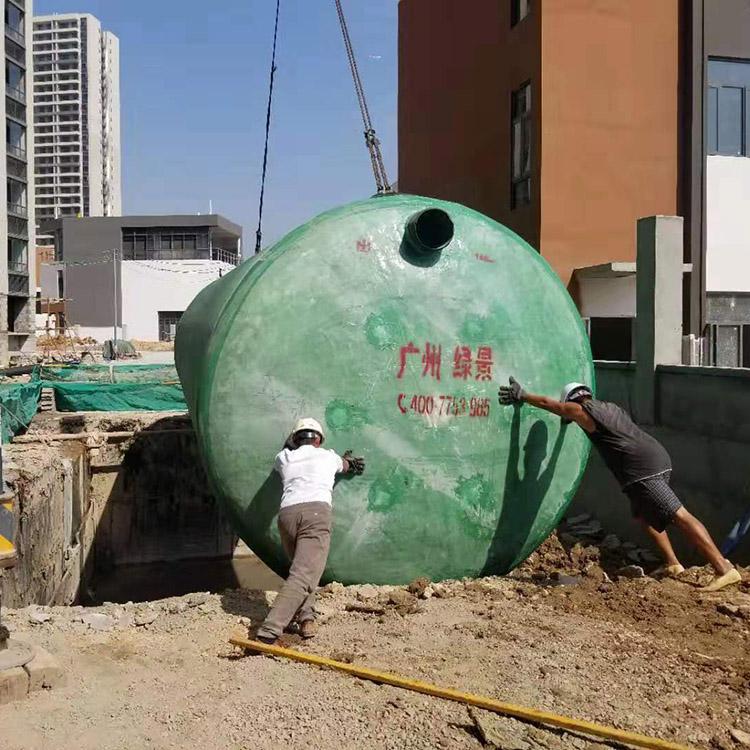 100立方玻璃钢化粪池污水处理设备耐腐蚀