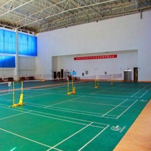 篮球场运动木地板施工 立美 防水运动木地板订制