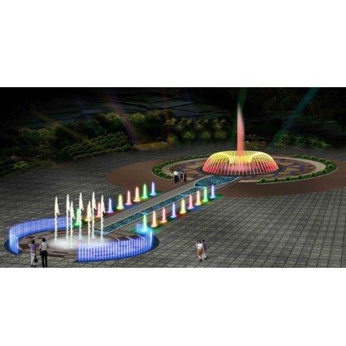 山木景观 广场声控喷泉图片 小型声控喷泉图纸