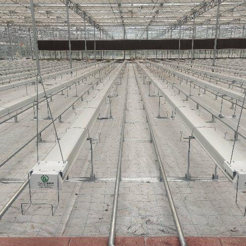 泓稷科技 玻璃温室支架式栽培槽报价 无土种植支架式栽培槽报价