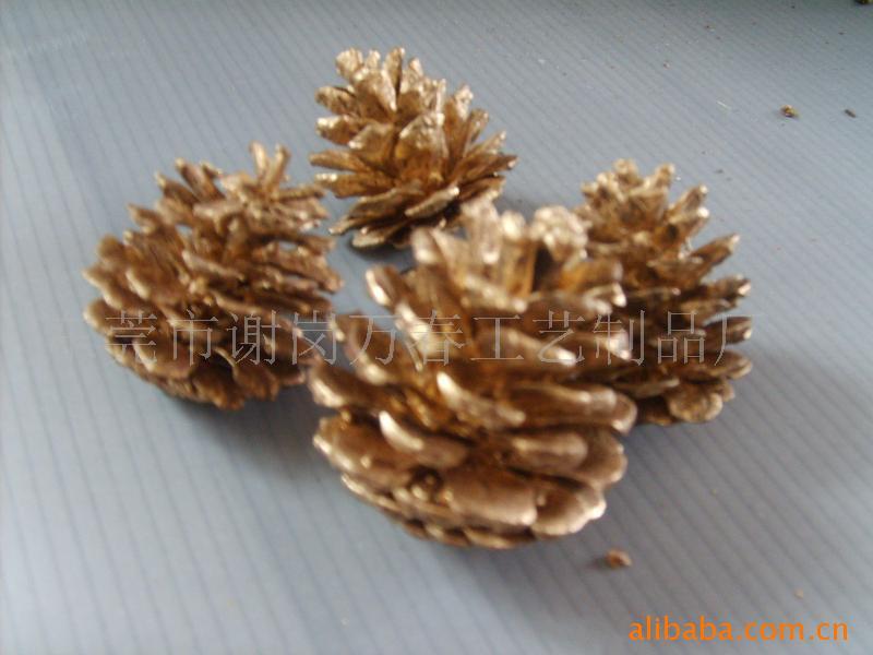 天然松果 圣诞圈 各种干花-干果-压花-树皮和各类藤类制品