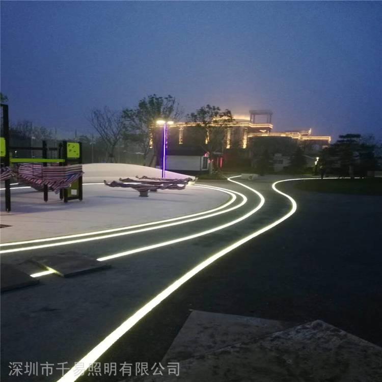 弧形LED灯砖弧形地砖灯千易照明厂家批发园林景观专用