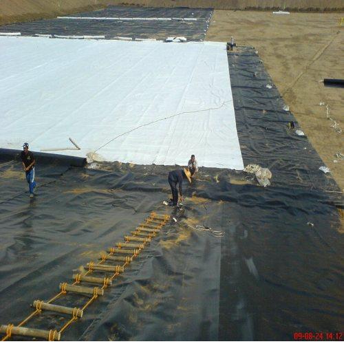 HDPE土工膜覆盖垃圾场覆盖土工膜土工膜连接