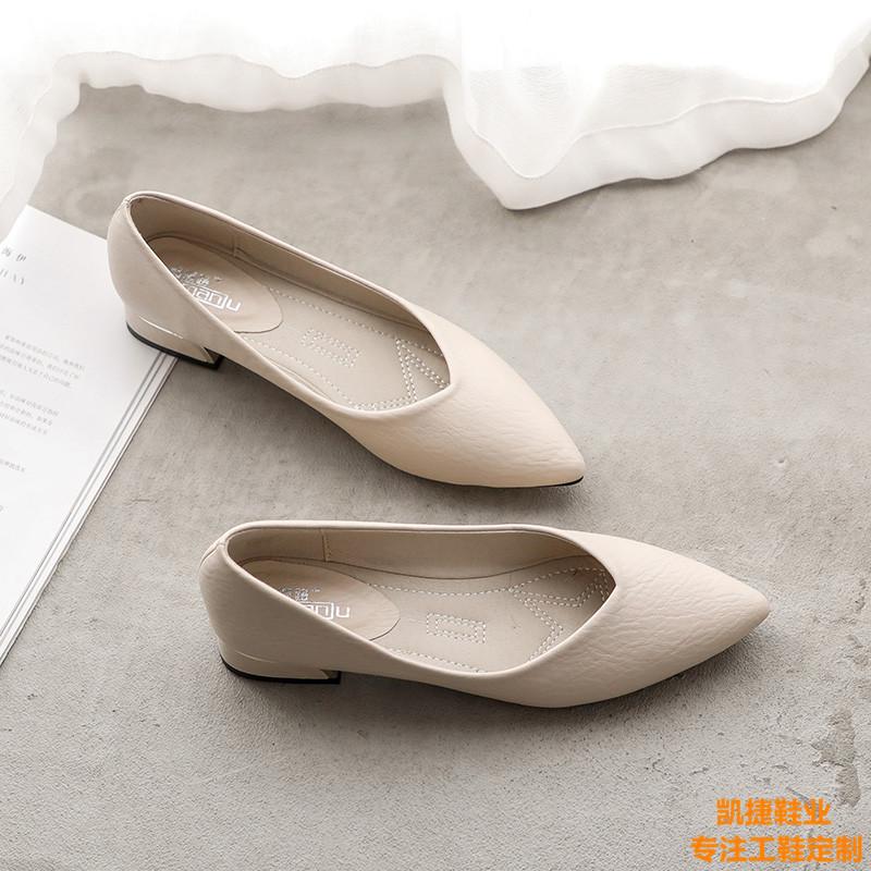 女士上班鞋女工鞋工厂品牌定制 女士皮鞋 女鞋定制凯捷鞋业