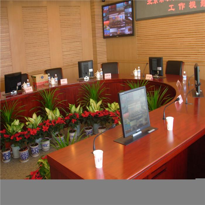 销售电脑自动升降会议桌定制 电脑自动升降会议桌 志欧