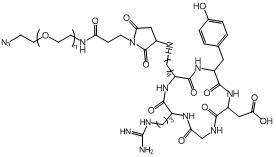 cRGD-PEG-N3 叠氮-聚乙二醇-环多肽 叠氮PEG环多肽