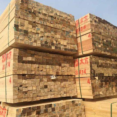 不易劈裂建筑方木加工厂 旺源木业 4*6建筑方木加工厂