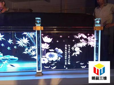 南通网红发光玻璃内雕隔断厂 提供免费样品