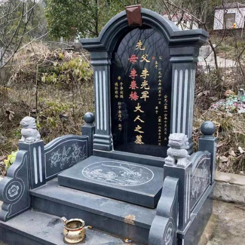 家族墓碑加工 雕刻墓碑风格 家族墓碑定制 磊顺石材