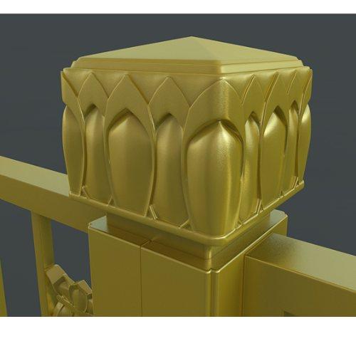 优质金色护栏图片 金朋 现货供应金色护栏 厂家直销金色护栏规格