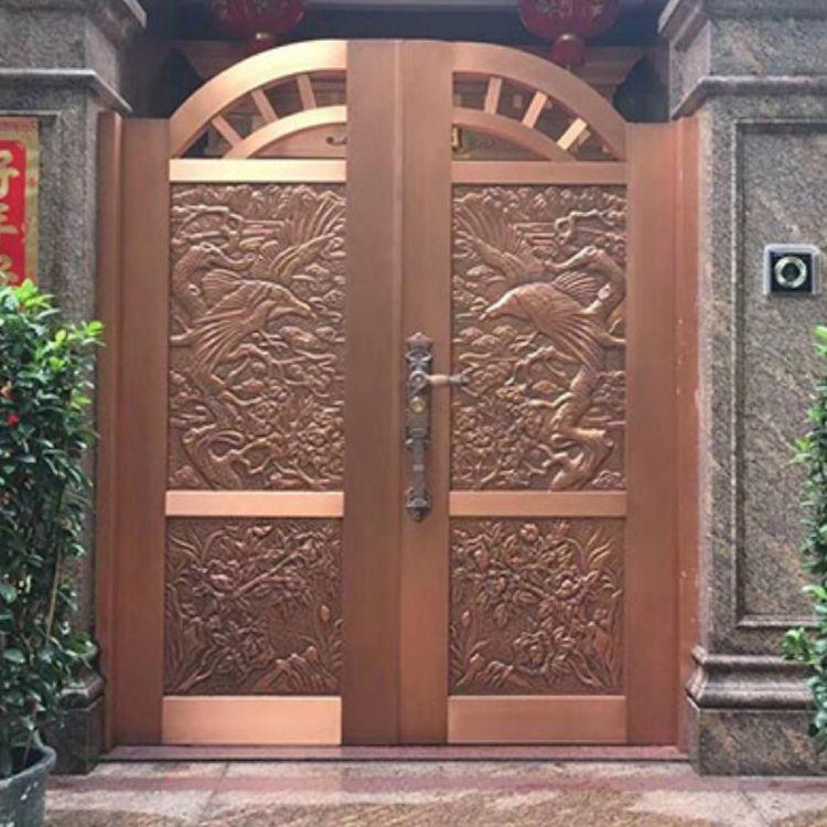 现代入户门 中式入户门设计 天茂盛唐 院落入户门