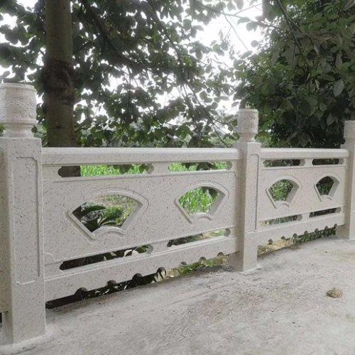 仿大理石石材围栏花岗岩栏杆仿玉石栏杆制作方法 丽景建材