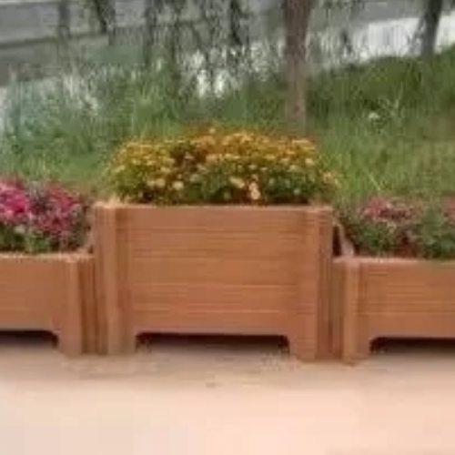 自制户外花圃水泥预制木文花箱 福建丽景建材