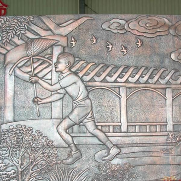 铜浮雕加工 校园宣传浮雕定制 增艺雕塑 大型浮雕定做