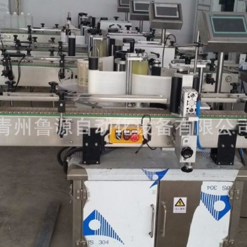 青州定位圆瓶贴标机生产 鲁源灌装贴标 山东定位圆瓶贴标机视频