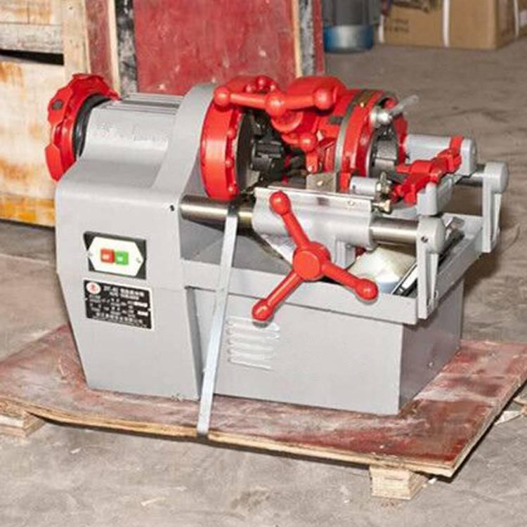 80型电动套丝切管机手动液压弯轨机管螺纹套丝机