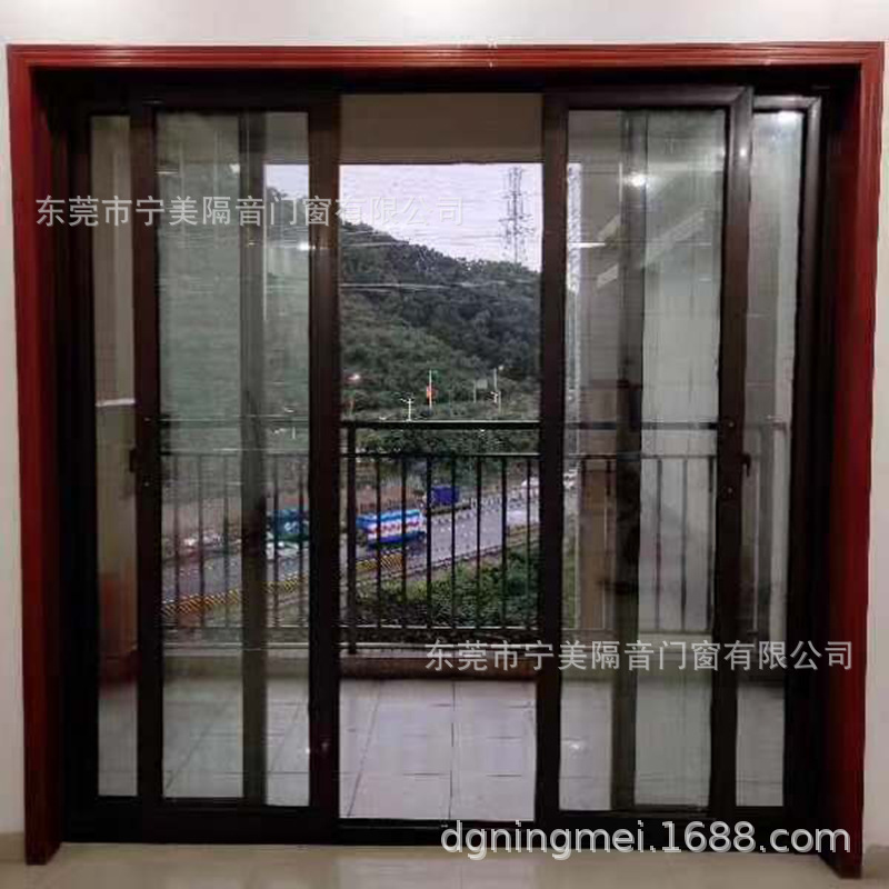 超强真空隔音门窗加工制作中空玻璃推拉窗沿海地区隔音窗