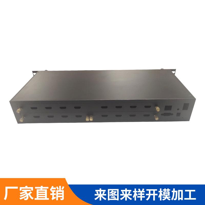 厂家定做 金属网络分流器外壳CNC加工 无线路由监控分流器铝外壳