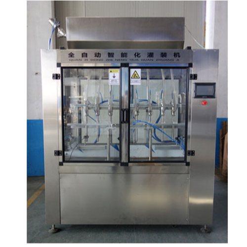 自动消毒液灌装机生产线 小型消毒液灌装机生产线 恒鲁机械