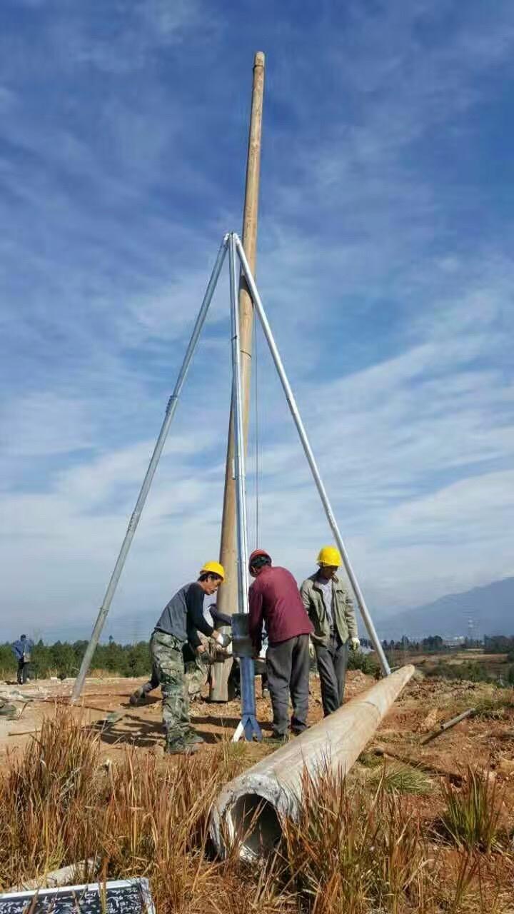 天津 厂家直销铝合金三脚架立杆器、电线杆立杆器电力设备、东亨电力