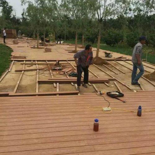 防水木塑地板 木塑地板价格 济南新民力 空心木塑地板厂家