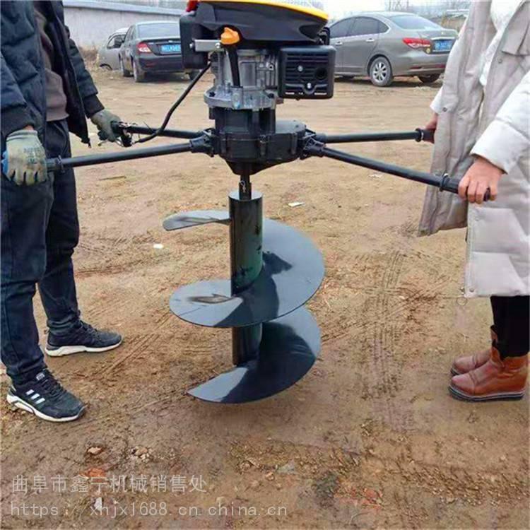 单人操作挖坑机小型汽油手提式挖坑机便捷式植树挖坑机
