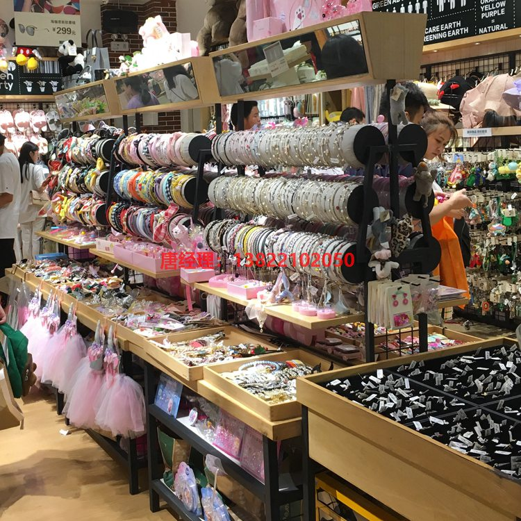 广州伶俐货架时尚伶俐饰品货架图片效果图 饰品店货架