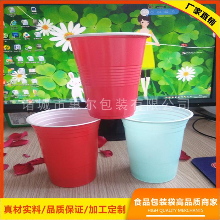 16oz双色塑料杯 ps塑料杯 出口塑料杯厂家