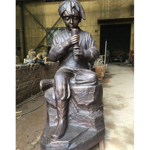 加工陶行知校园铜雕厂家 大型陶行知校园铜雕 宏达雕塑
