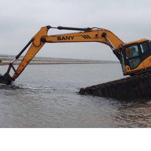 金昌市水陆挖机河道清淤 平凉市水陆两栖挖掘机出租