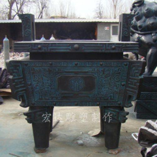 宏达雕塑 加工商务铜鼎摆件 大型商务铜鼎摆件加工
