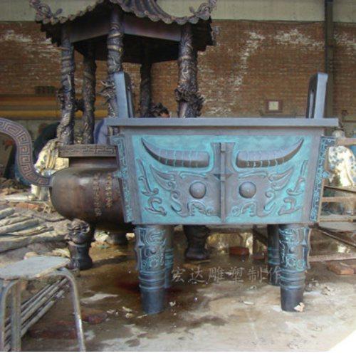 加工商务铜鼎摆件铸造厂家 宏达雕塑 商务铜鼎摆件价格