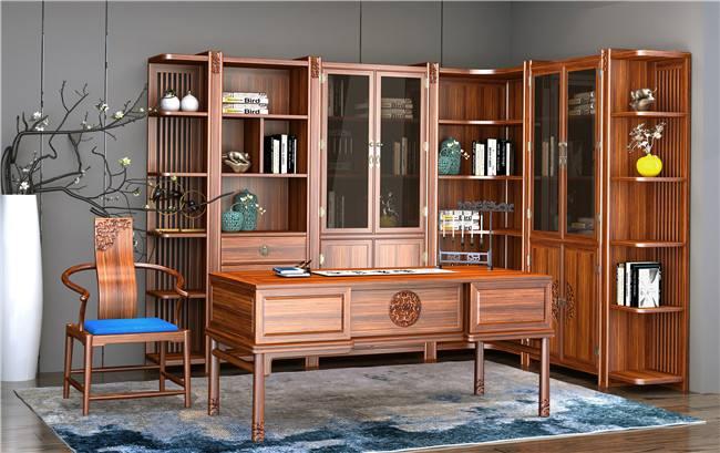 新中式茶桌六件套 南美胡桃木新中式家具  餐桌 泡茶桌