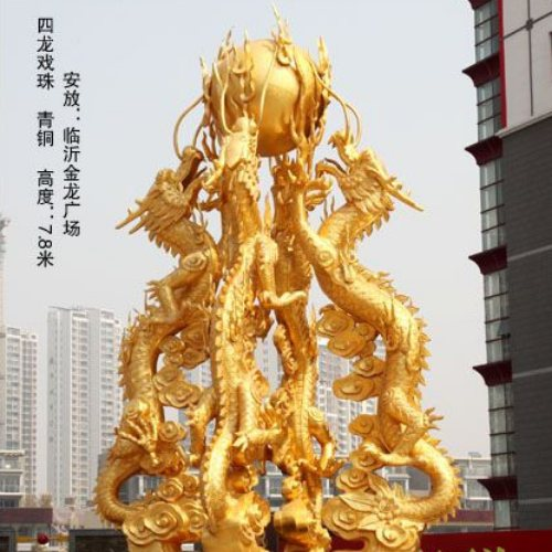 昌盛雕塑 大型铜龙头 铜龙头厂家 铜龙头