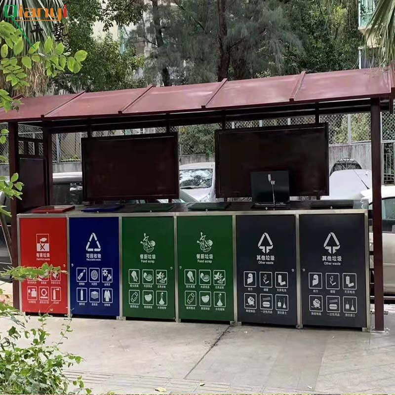 厂家定制不锈钢宣传栏垃圾分类标识企业公示栏公告栏展板框广告牌